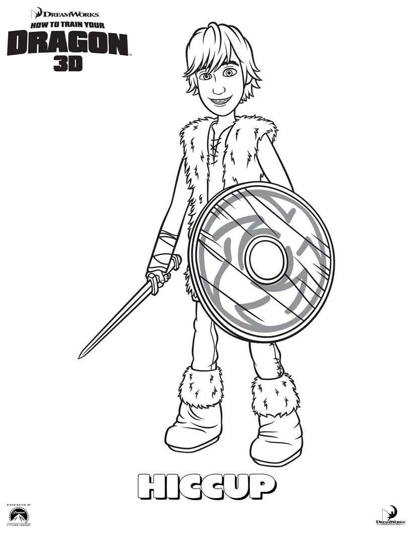 819x1060 Hiccup Coloring Pages