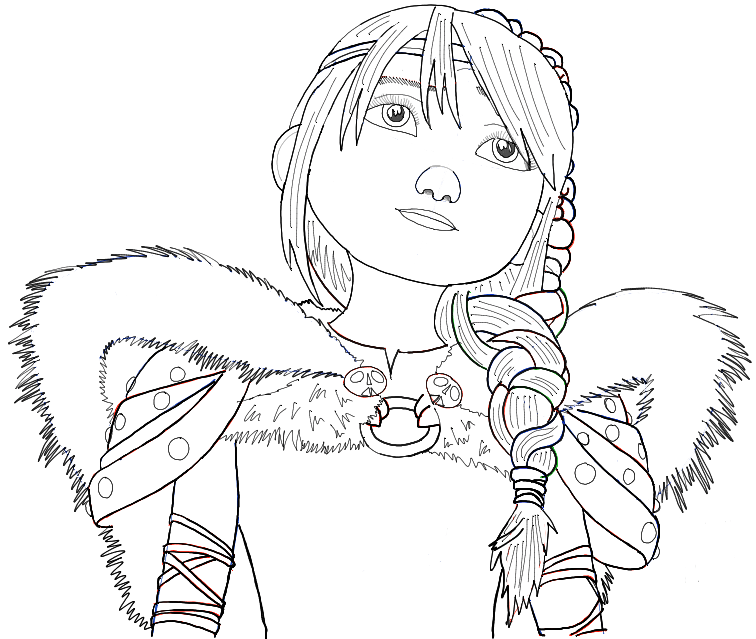 756x639 How To Draw Astrid From How To Train Your Dragon 2 In Simple Step
