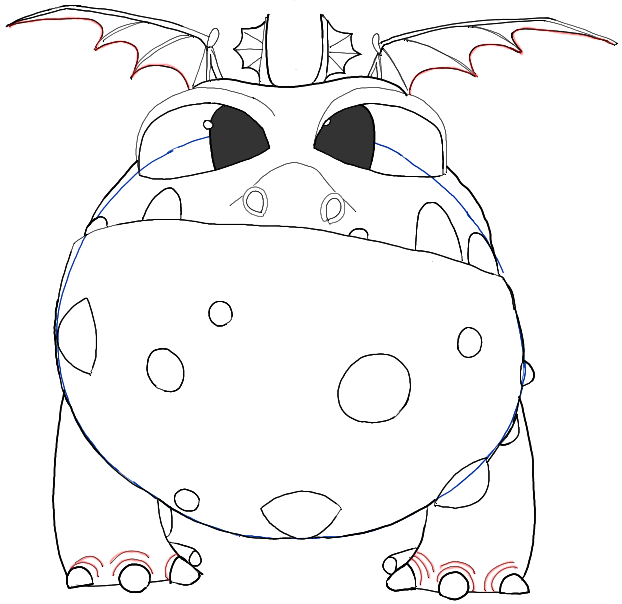 622x604 How To Draw Baby Gronckle From How To Train Your Dragon 2 In Easy