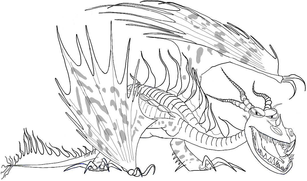 1077x636 How To Draw Hookfang From How To Train Your Dragon 2 Easy Steps