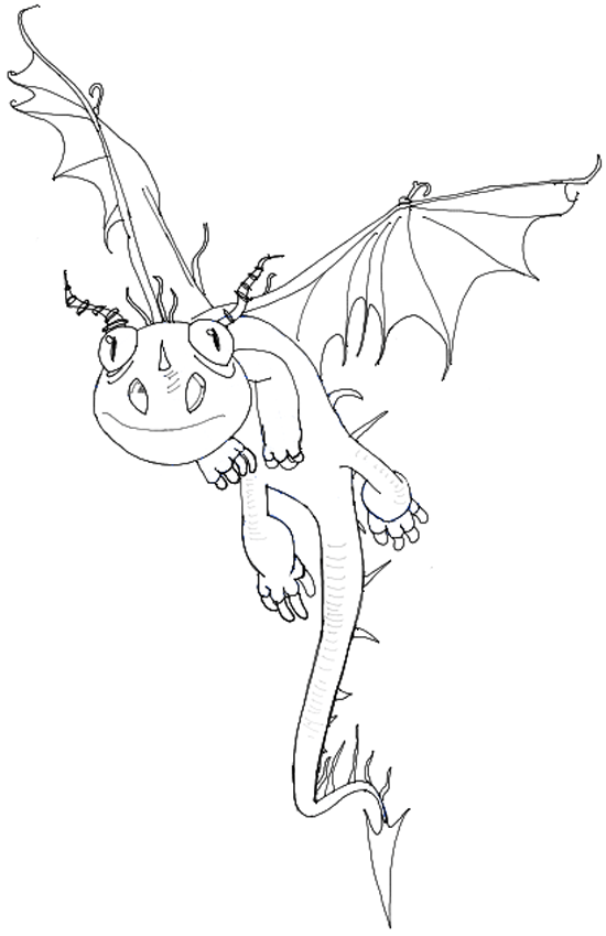 550x849 How To Draw Terrible Terror From How To Train Your Dragon 2 Step