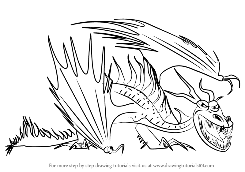 800x562 Learn How Draw Hookfang From How Train Your Dragon 2 (How