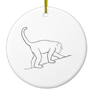 324x324 Howler Monkey Christmas Tree Decorations Amp Ornaments Zazzle.co.uk