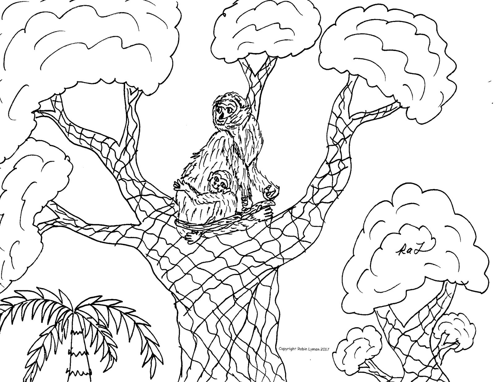 1600x1237 Robin's Great Coloring Pages Howler Monkey And Spider Monkey