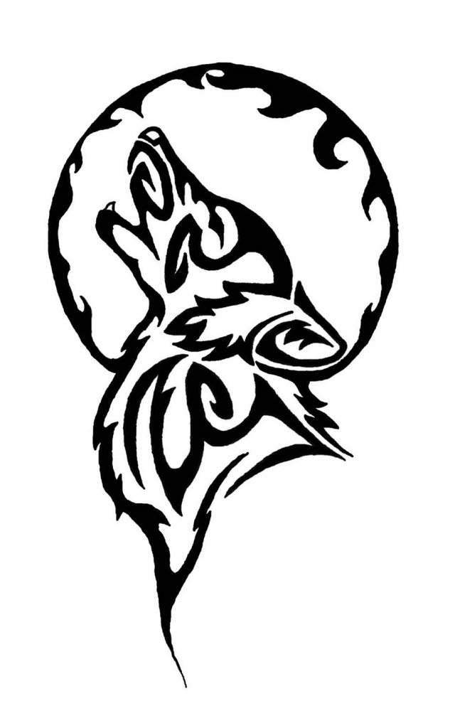 633x1024 Coyote Howling At The Moon Tattoos