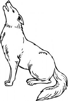 236x349 Coyote Howling Clip Art Coyotefamily Coyotes