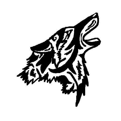 500x500 Free Coyote Howl Tribal Design By Louawolf