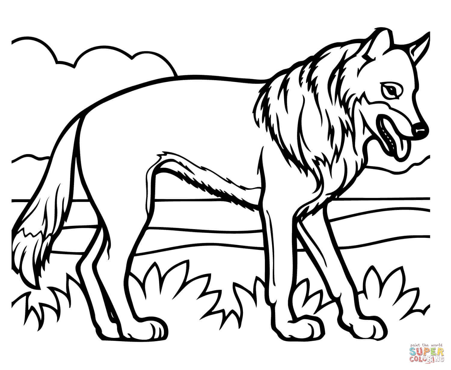 1500x1232 Realistic Coyote Coloring Page Free Printable Coloring Pages