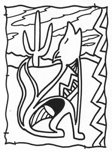 223x300 Unmounted Rubber Stamps, Southwest Stamps, Scenic, Howling Coyote
