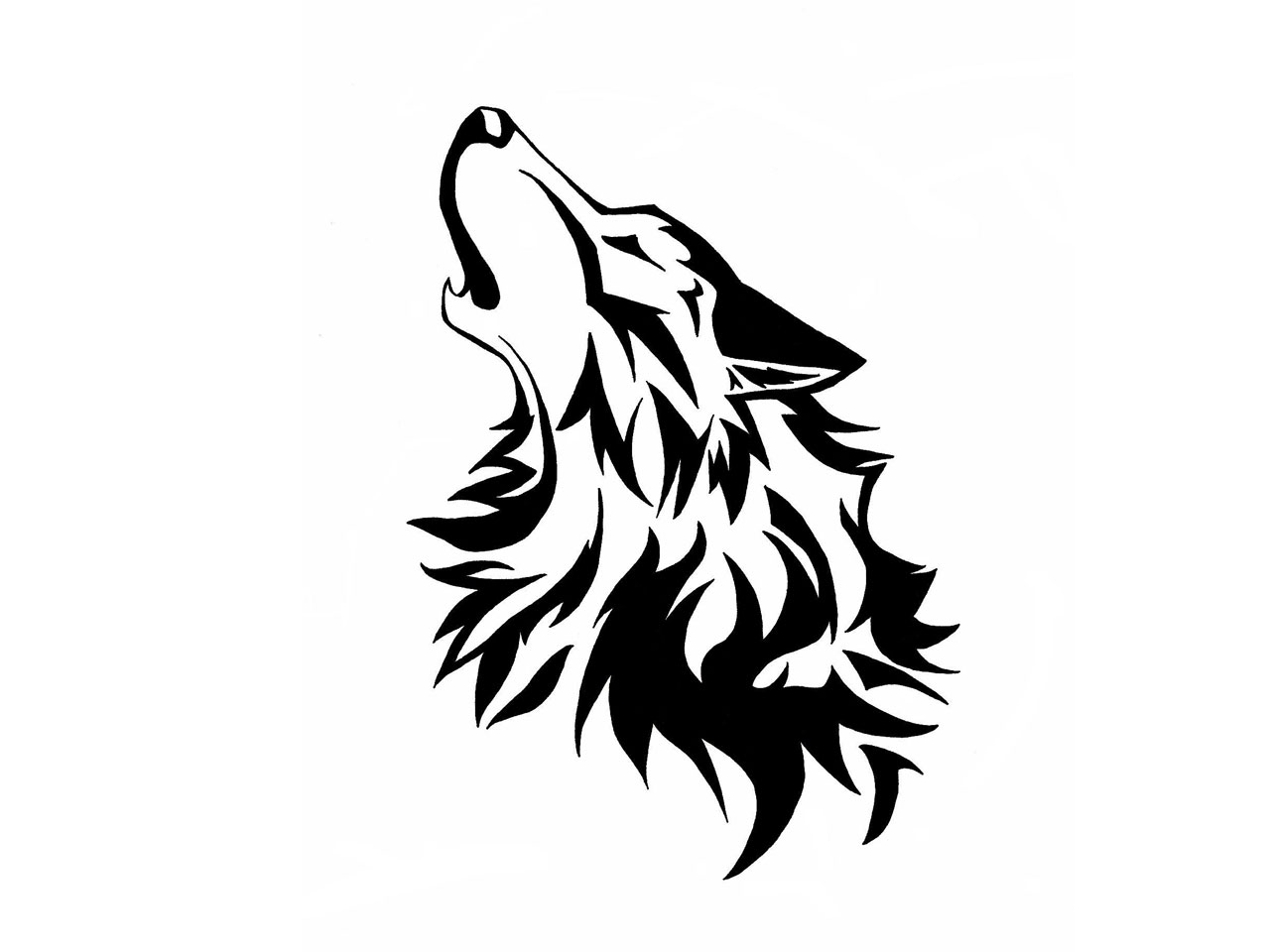 1280x960 Wolf Is Howling Drawing Wallpaper Picture Chainimage