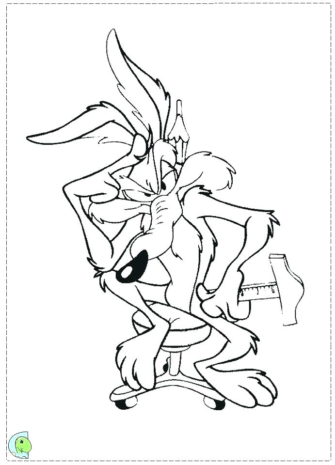 691x960 Coyote Coloring Coyote Coloring Page For Free Coyote Coloring