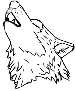 250x300 Free Howling Wolf Lineart By Xabrinaye