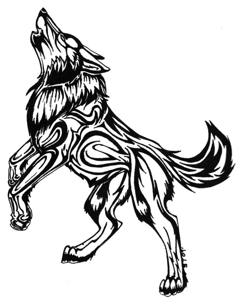 807x991 Howling Wolf Tattoo Bribe By Obsidianemotion