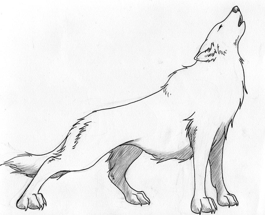 900x731 Howling Wolf Tattoo Design By Crimsonwolfsobo