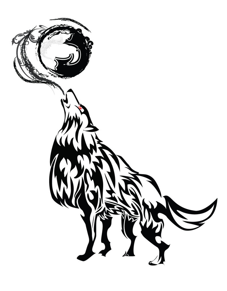 790x1012 Howling Wolf Tribal By Chronophoenix Mp Wolf