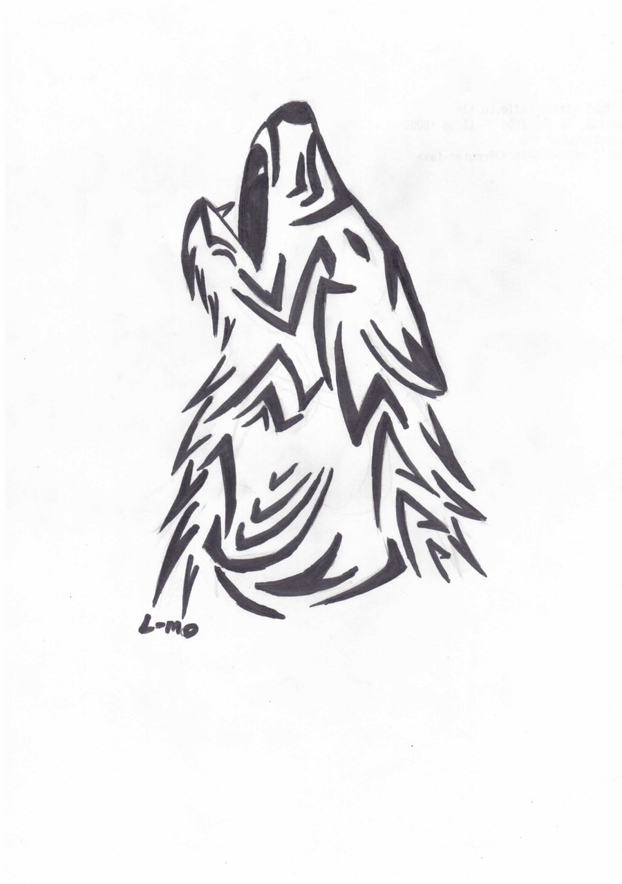 900x1278 Howling Wolf Tribal By Lm136