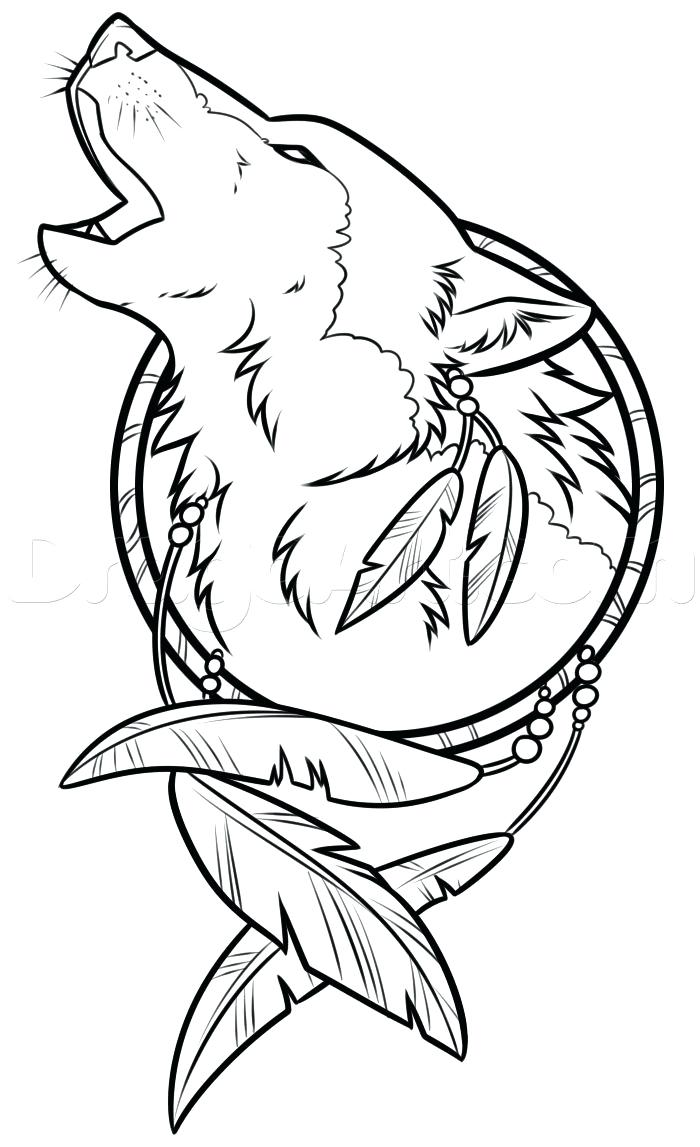 700x1147 Picture Of Howling Wolf Library Face Outline Drawing Simple