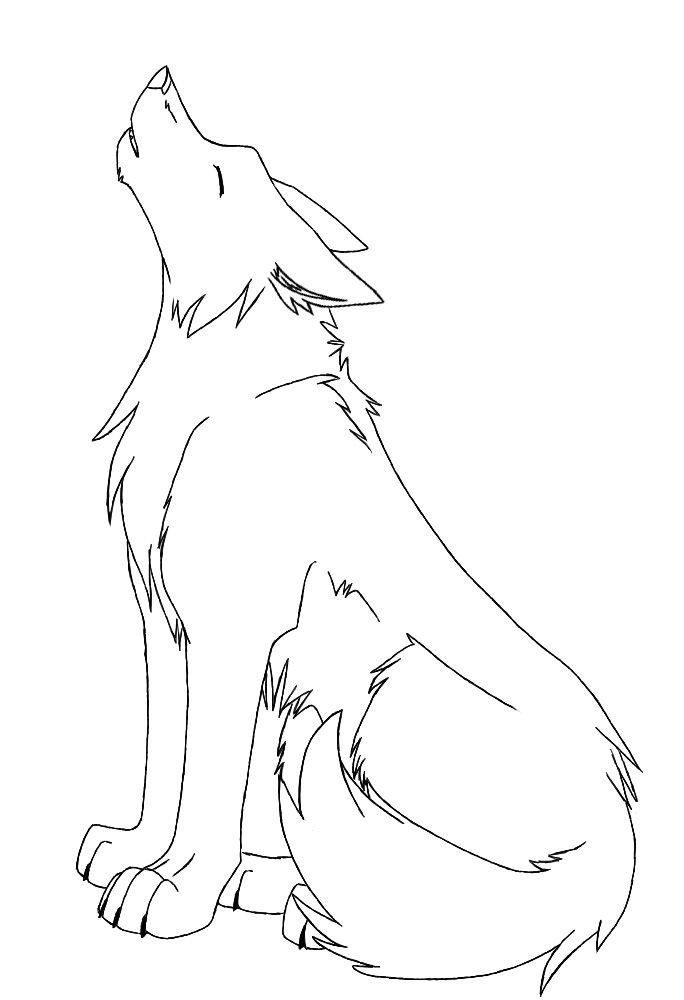 Howling Wolf Drawing at GetDrawings.com   Free for personal use ...