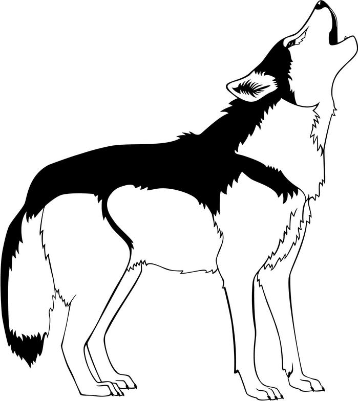 699x784 Wolf Howling Howling Wolf Clipart Kid 8