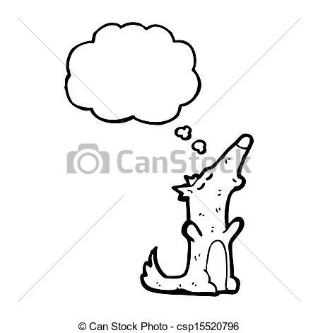 450x470 Cartoon Howling Wolf Stock Illustration