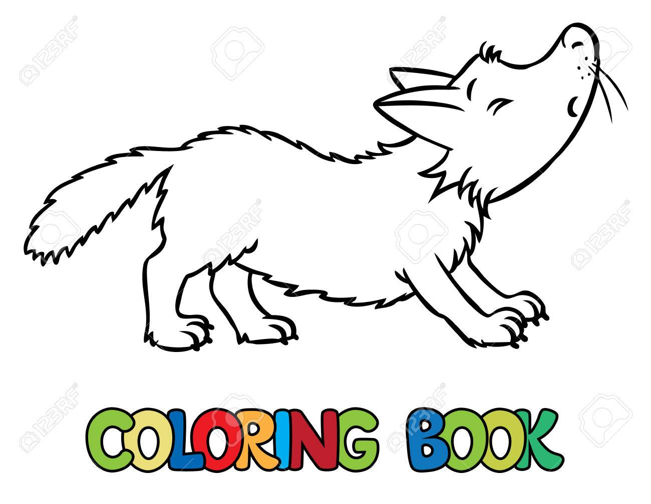 1300x1008 Coloring Book Or Coloring Picture Of Lttle Funny Howling Wolf