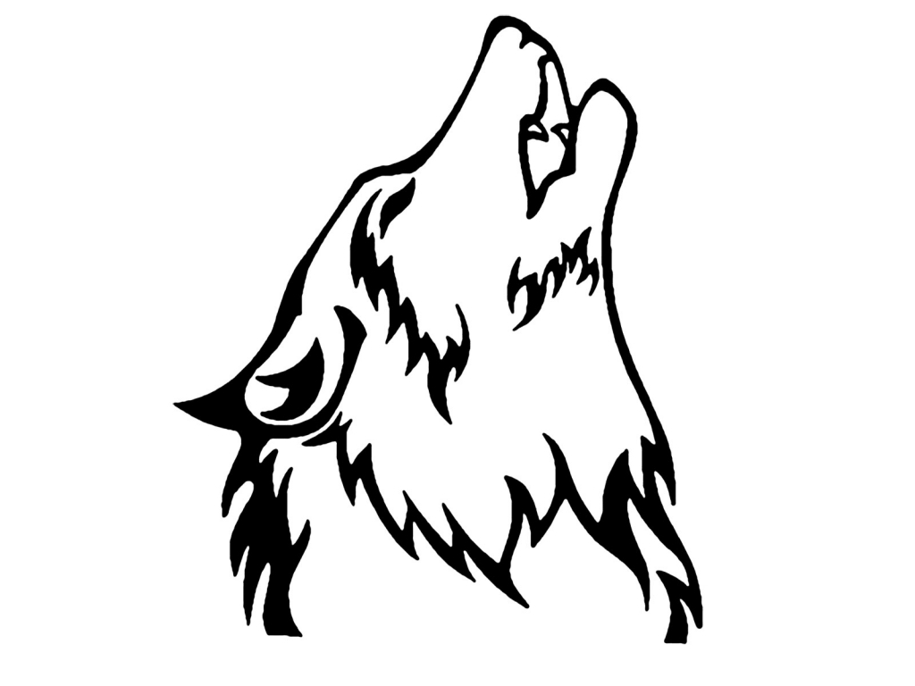 1024x768 Wolf Howling Drawing Drawing A Wolf Clipart Best