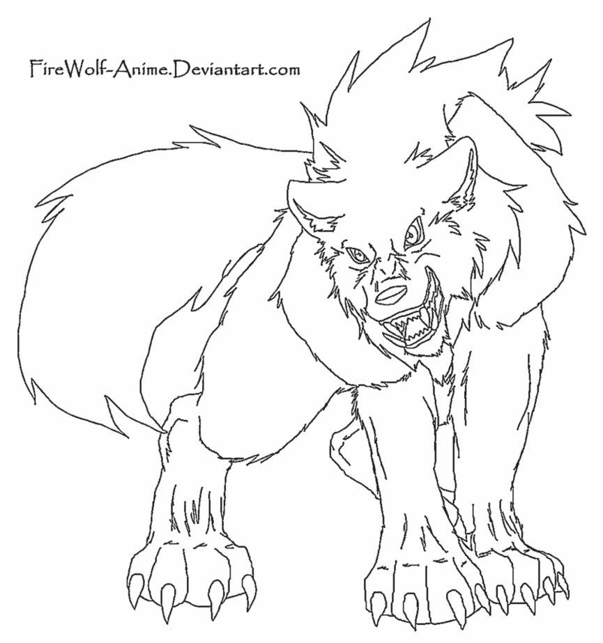 865x923 Drawn Howling Wolf Sad Anime