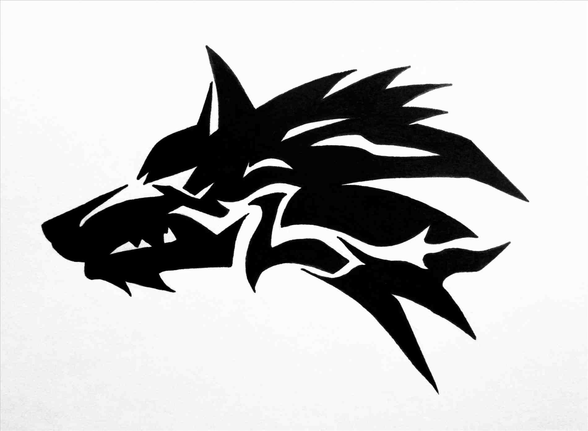 1900x1393 Pop Culture Learn Drawings Of Tribal Wolves How To Draw A Howling