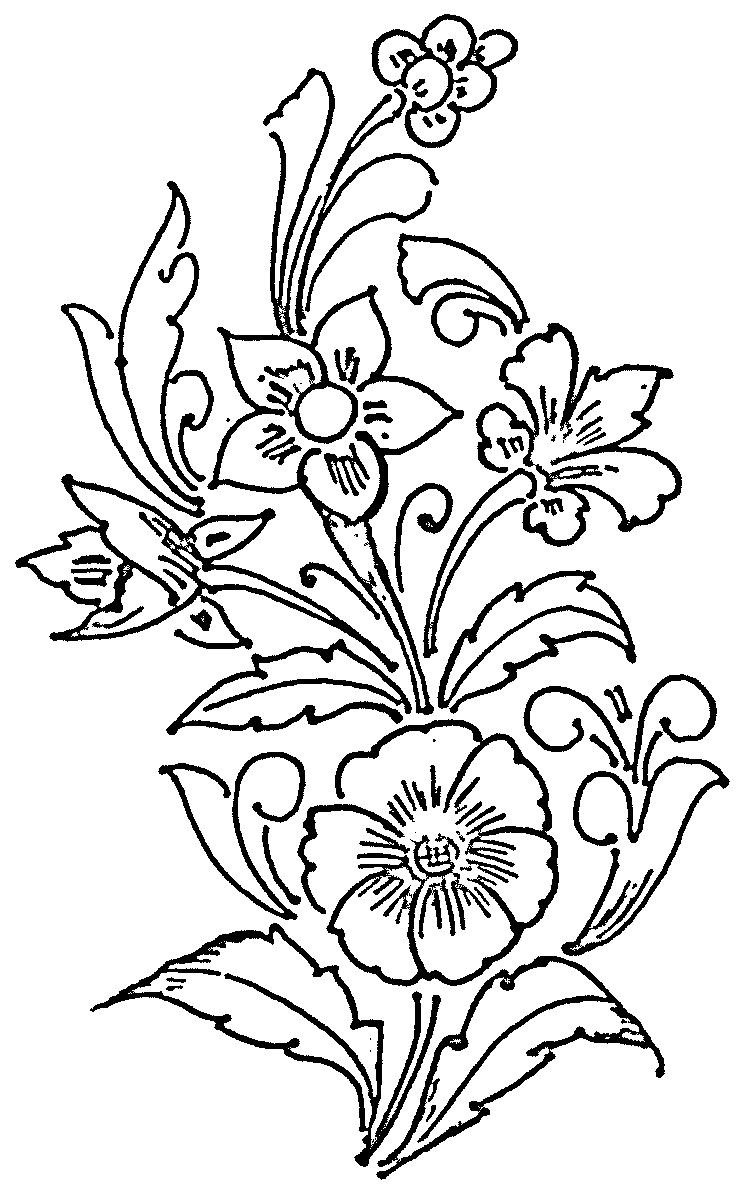 753x1194 Glass Paintings Outline Designs Httpglasspaintingsflower Glass