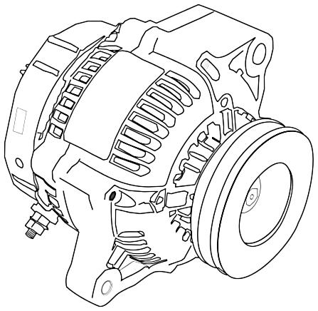 447x436 Alternator Drawing