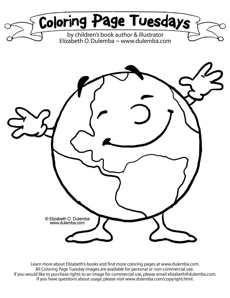 773x1000 A Kinds Drawing About Earth Day Coloring Page