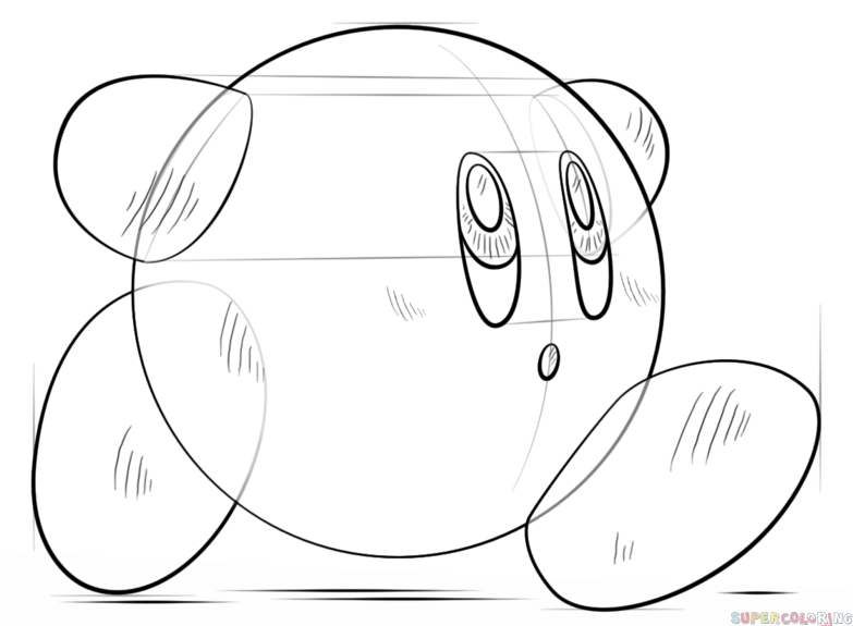783x575 How To Draw Kirby Step By Step Drawing Tutorials