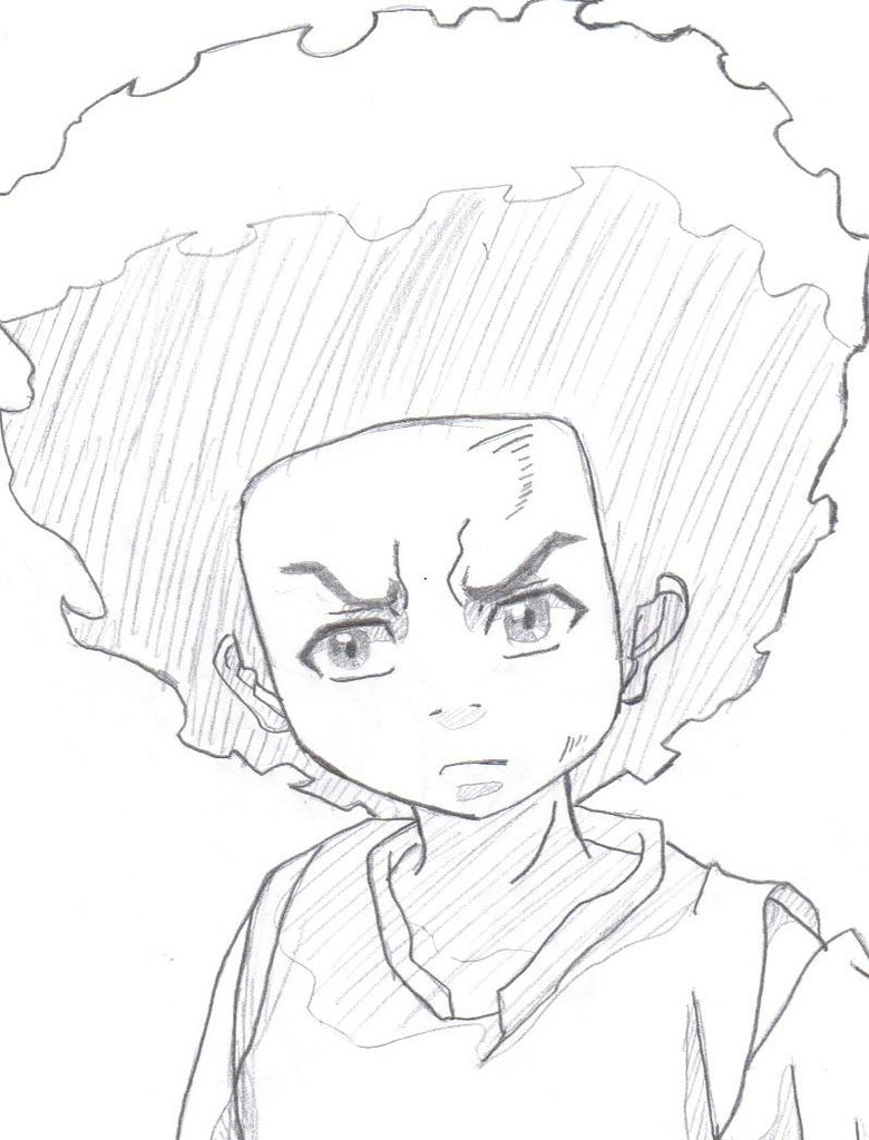 780x1024 Image Result For Huey Freeman Drawing Background Images