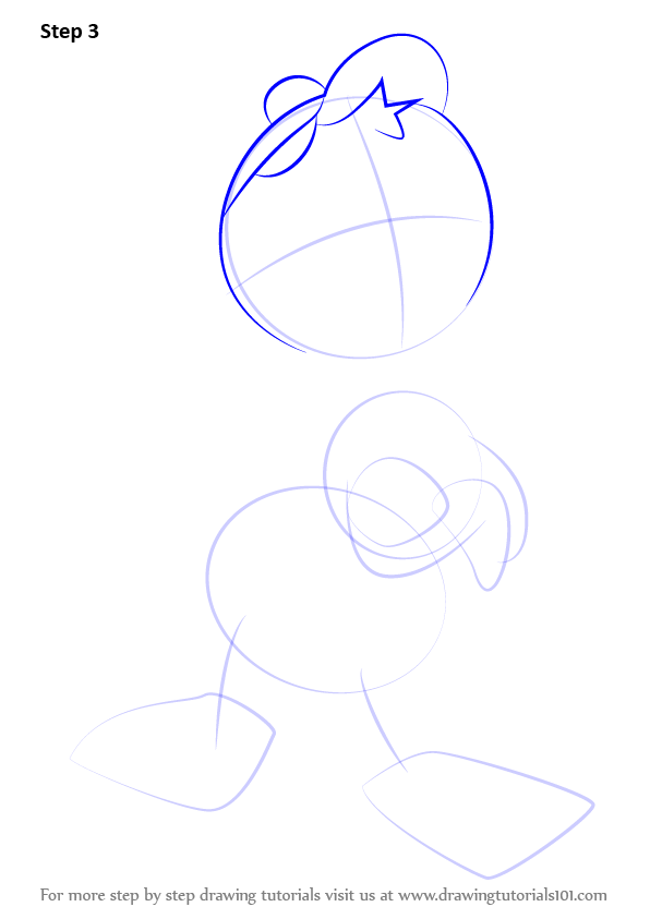 596x843 Learn How To Draw Huey Duck From Ducktales (Ducktales) Step By