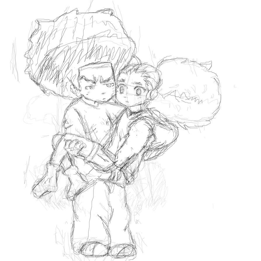 894x894 Sketch Huey And Jazmine By Hueywuzhere