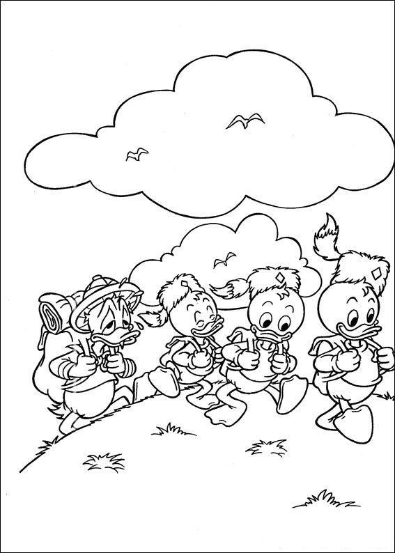567x794 Coloring Page Disney Coloring Page Huey Dewey And Louie