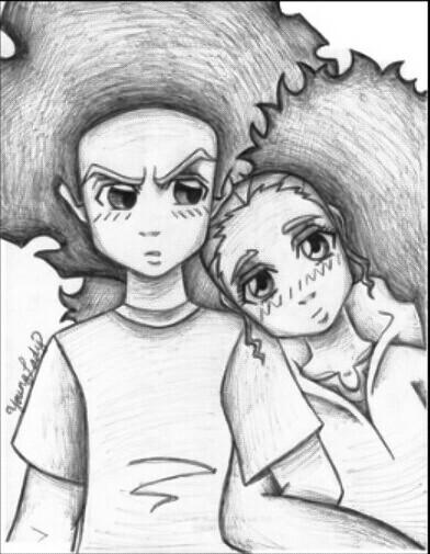 392x505 Drawing Of Huey And Jasmine @meana Love Dope