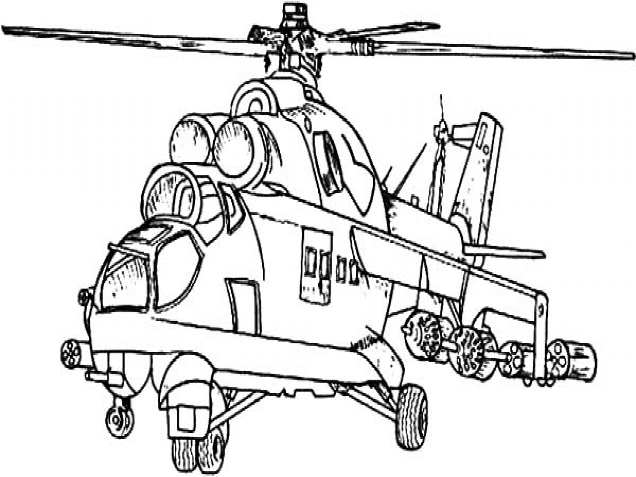 1280x960 Generous Helicopter Coloring Page Photos