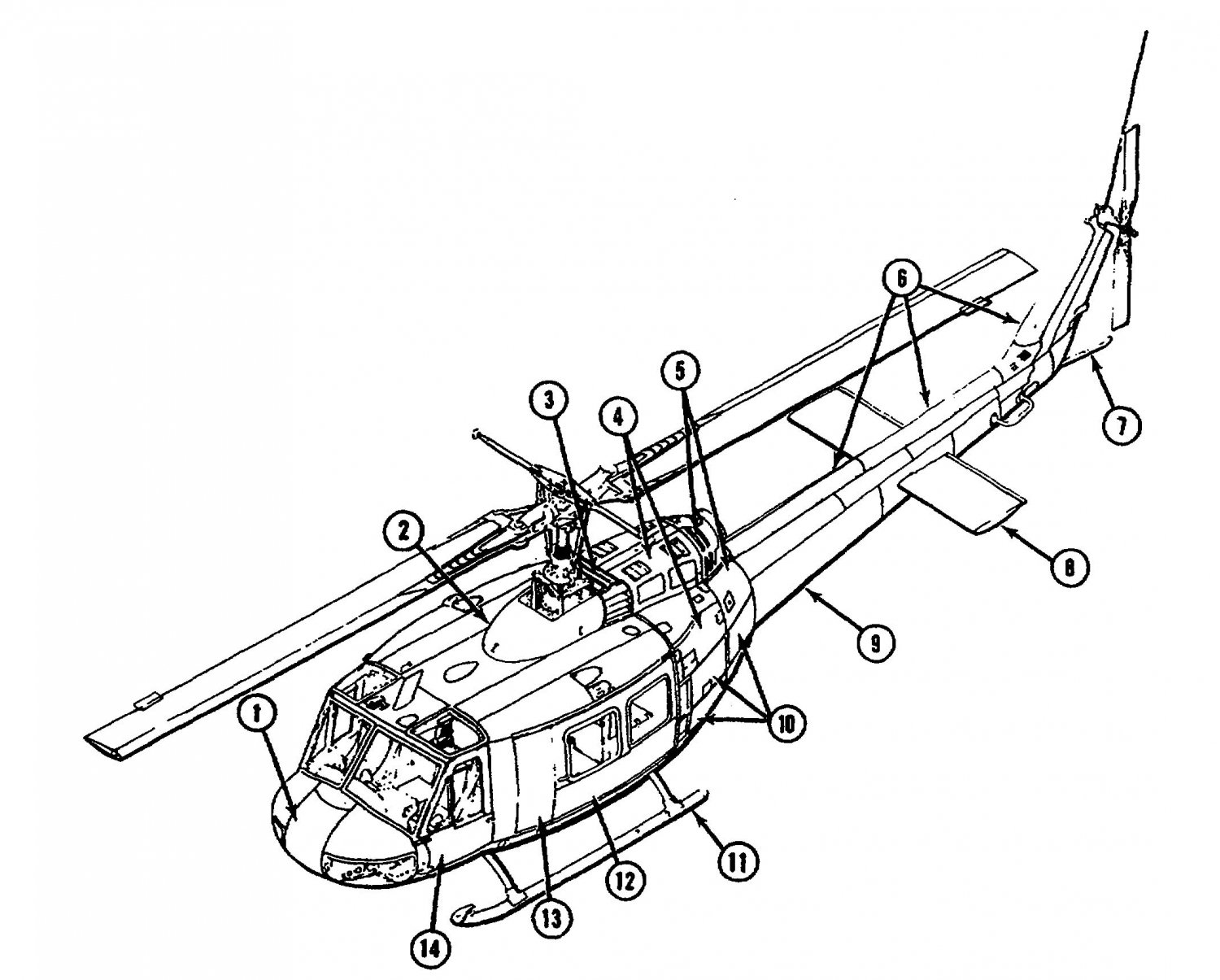 1500x1205 Uh 1 Huey Helicopter 77 Manual Cd, 8314 Pages Iroquois Bell