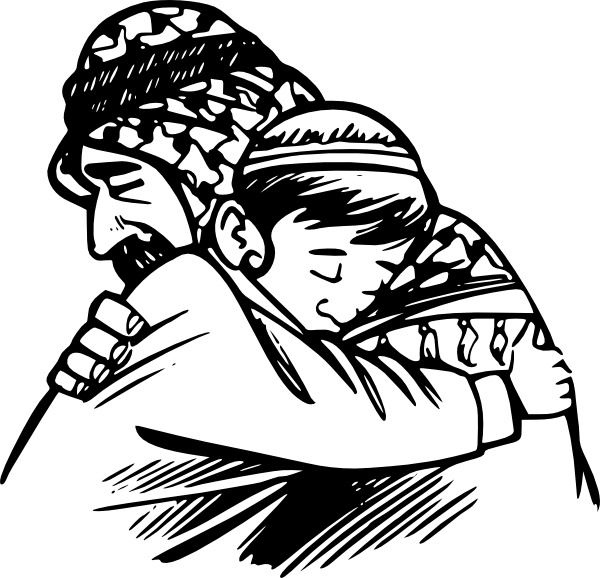 600x578 Father Hug Son Clip Art Free Vector In Open Office Drawing Svg