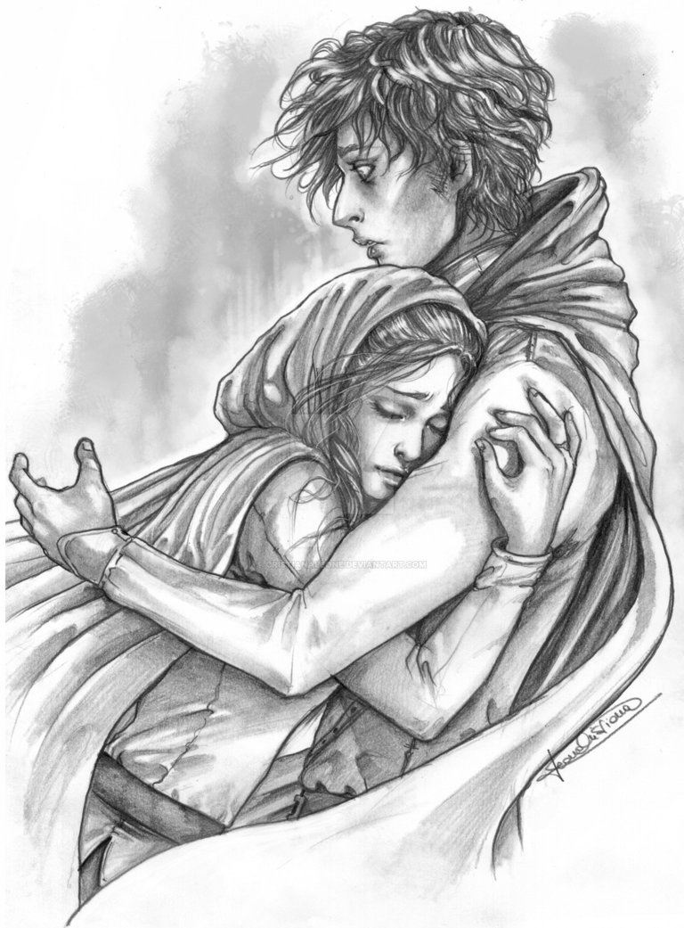768x1041 Hug Her From Behind Pencil Drawings Drawn Hug Sudden