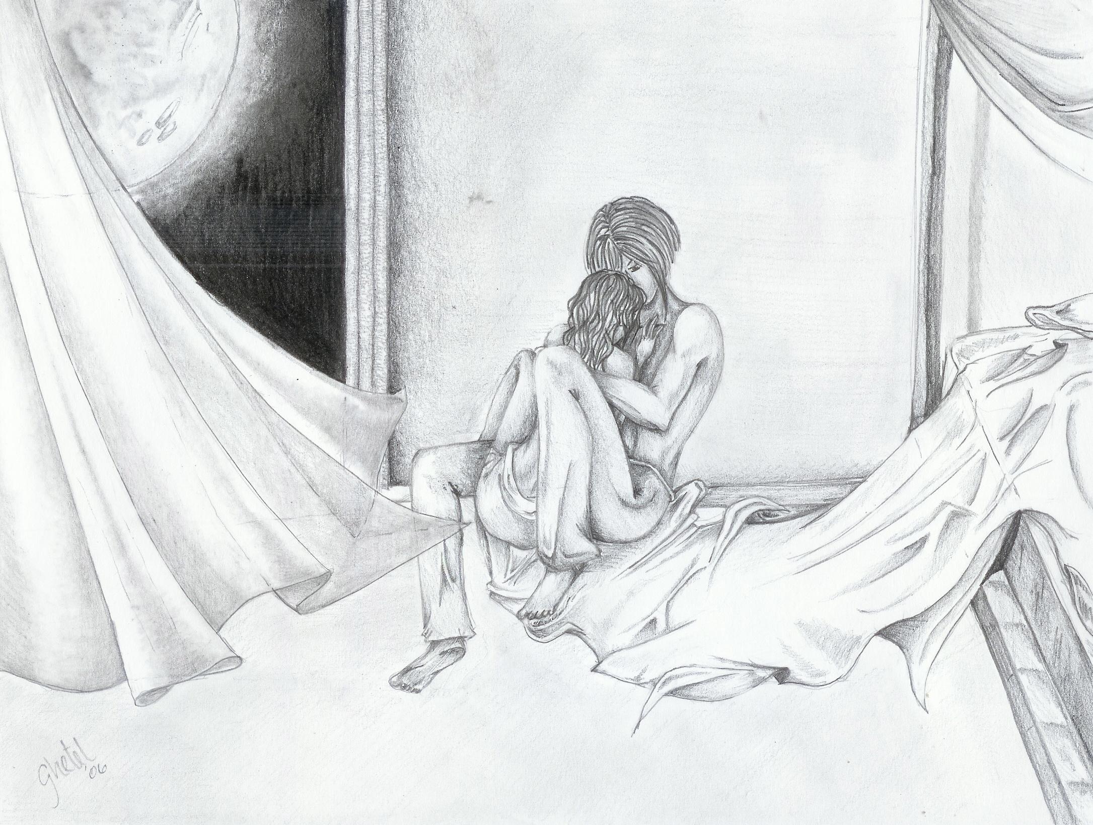 2171x1639 Hugging In Bed Drawings Hug Vinnette