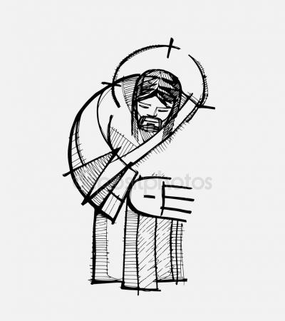 400x450 Jesus Hug Stock Vectors, Royalty Free Jesus Hug Illustrations