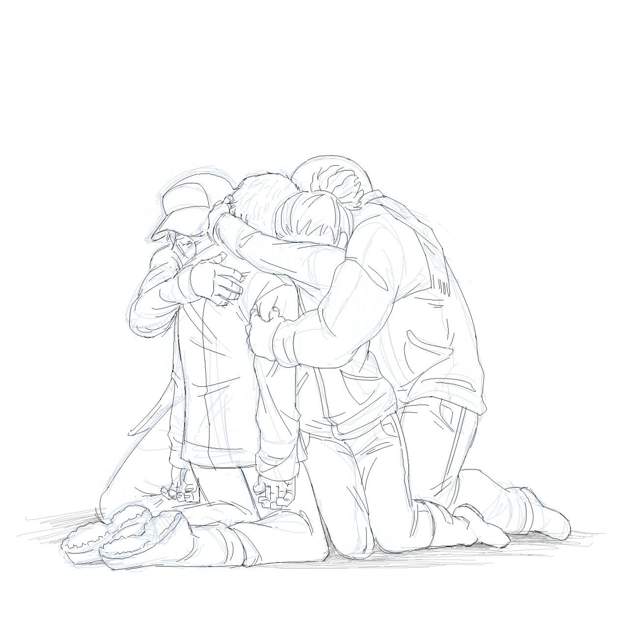 1280x1308 Snufkinwashere, Group Hug, Group Pose