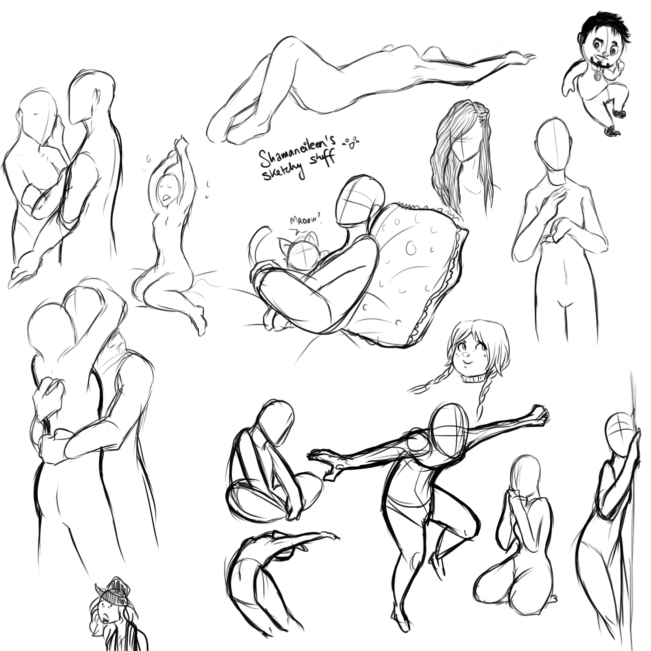 1300x1300 Poses And Thingies And Crap By Shamsarts