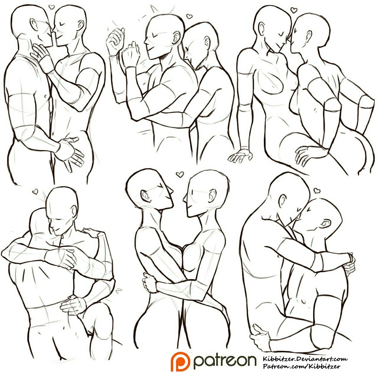 1280x1262 Pair Photo Poses Drawing Tips