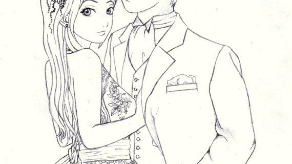 570x320 Drawings Of Anime Couples Anime Couple Hugging Drawing Beautiful