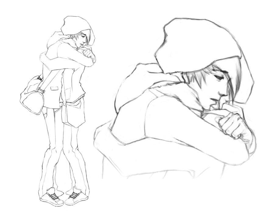 900x736 Drawn Hug Anime