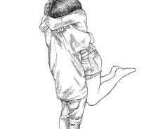215x185 Drawn Hug Couple