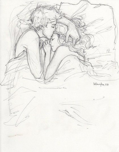 420x534 Pictures Cuddling Drawing,